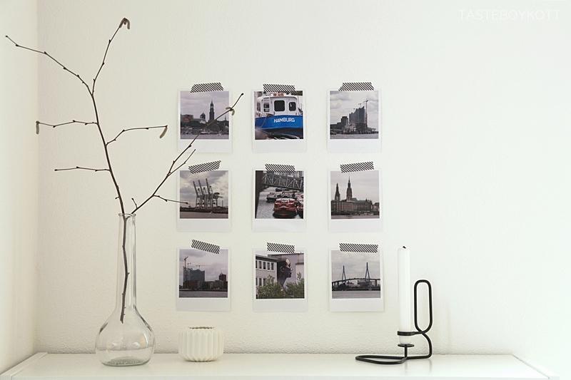 DIY wall decoration with polaroid photos // DIY Wanddeko mit Fotos im Polaroid-Stil