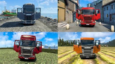 Animasi Pintu Semua Truk Scania - ETS2 1.40