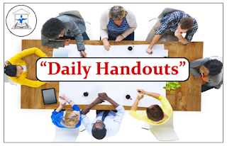 """DAILY HANDOUTS""- Part-I"