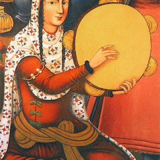 Musique, tambour, orient, femme, jpeg