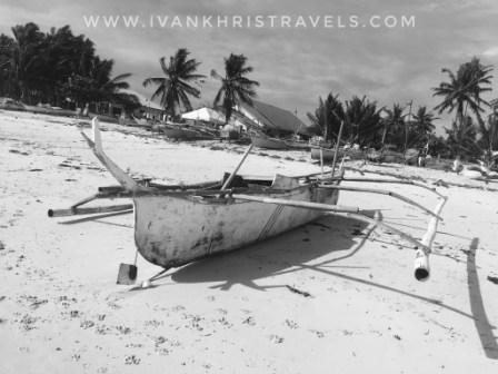 Bantayan Island boat at the beach