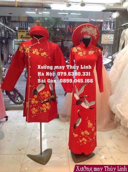 Những mẫu áo dài cưới đẹp được yêu thích nhất 2019