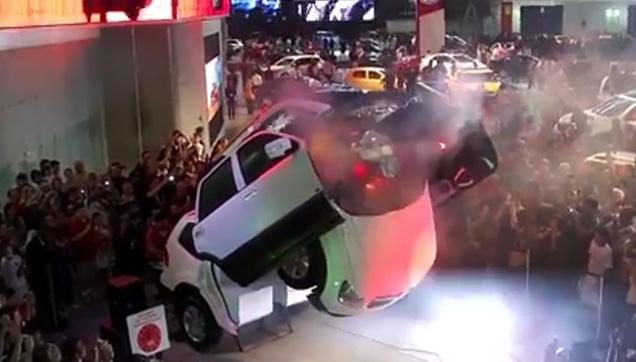 The KIA Car transforming into an Autobot.