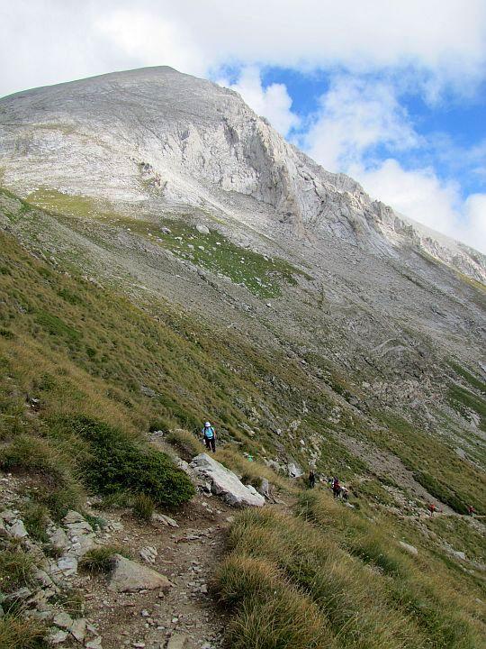 Podejście na przełęcz Kabata.
