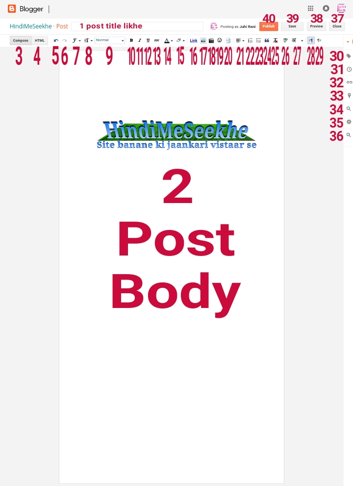 Blog new post body full body description