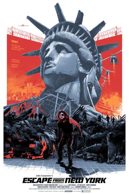 Grzegorz Domaradzki ilustrações cartazes pôsteres filmes arte cinema Escape from New York (Fuga de Nova York)