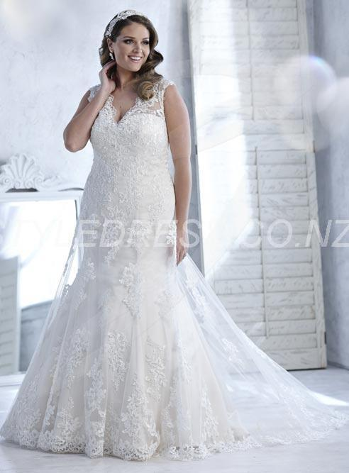 Lace A-line Pretty Detachable Sleeves and Lace-up Back Levin Wedding Dress