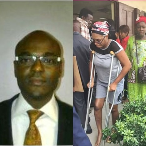 Controversial Zenith Bank Staff Accused of Breaking Wife's Leg Caught in Bed with Another Lady (Photo)