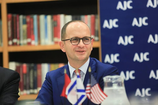 Albanian Foreign Minister Bushati meets with the American-Israeli Committee in the US