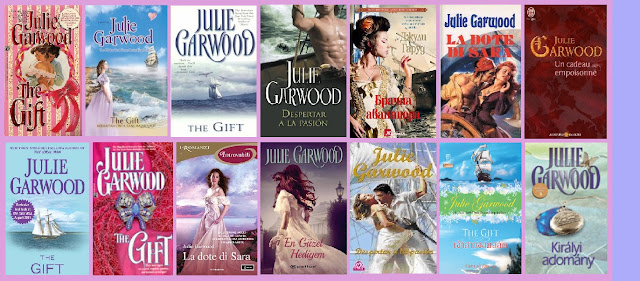 portadas de la novela romántica histórica Despertar a la pasión, de Julie Garwood