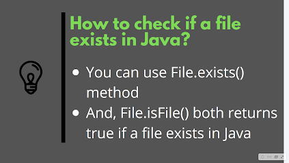 How to check if a File exists in Java with Example