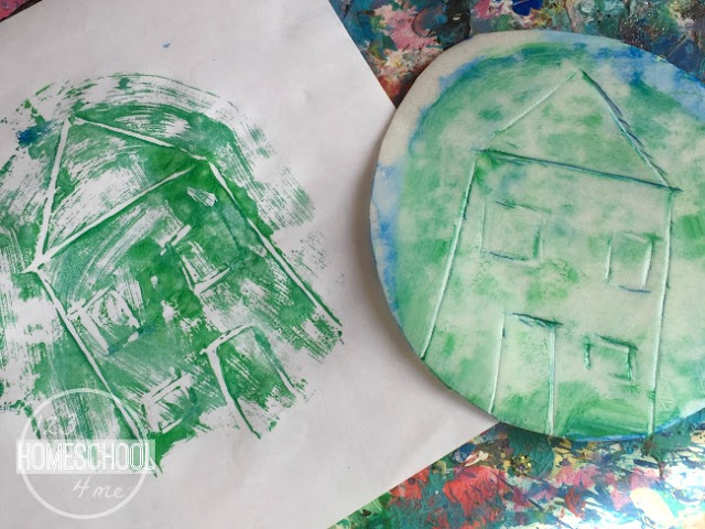easily wash off the styrofoam plate, cover with a new color, and again use it as a stamp