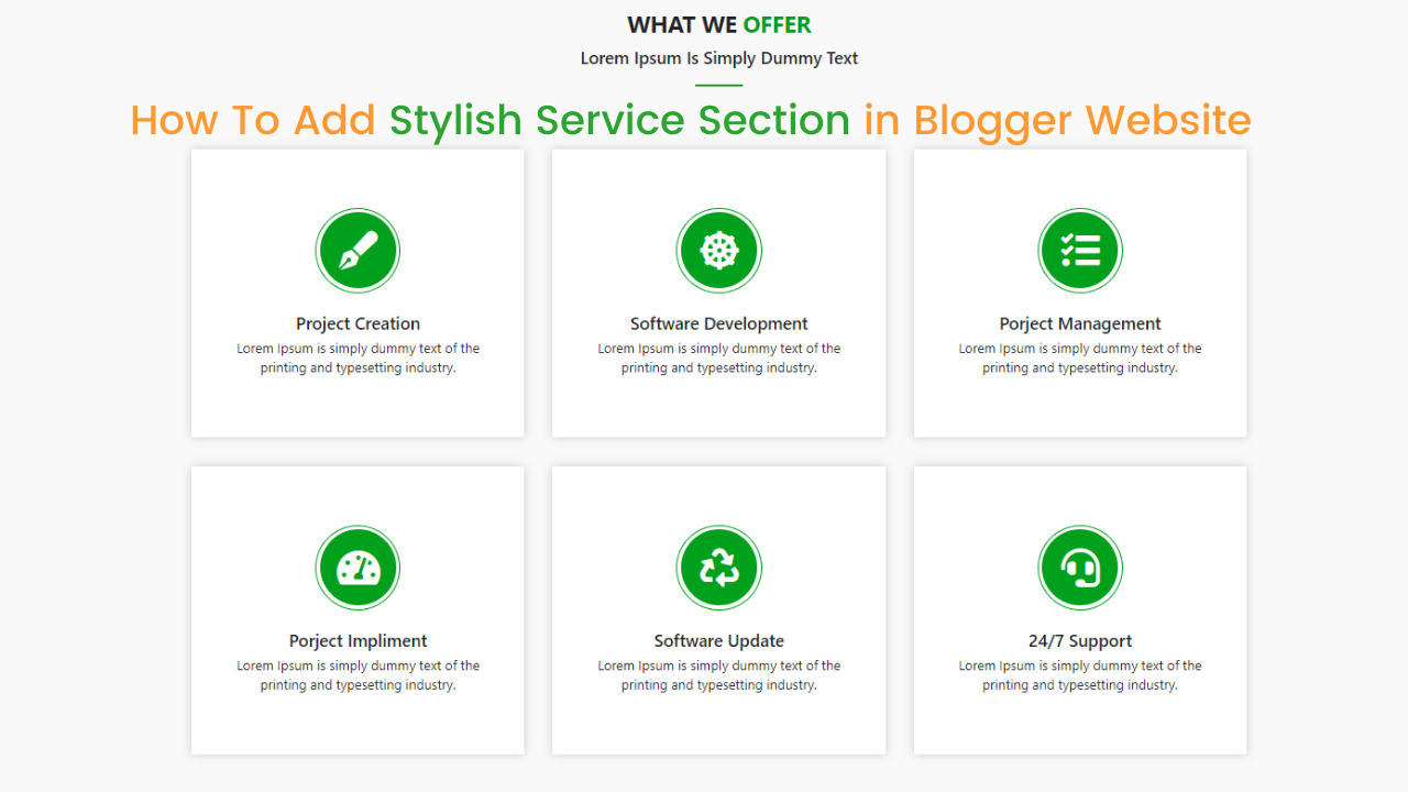 demo of stylish service section