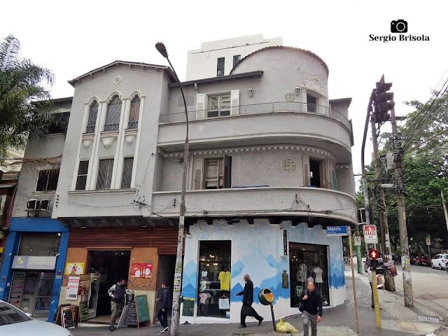 Vista ampla de um Antigo residencial na Rua Augusta - Cerqueira César - São Paulo