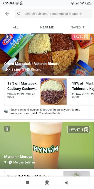promo restoran pake treats dari traveloka eats