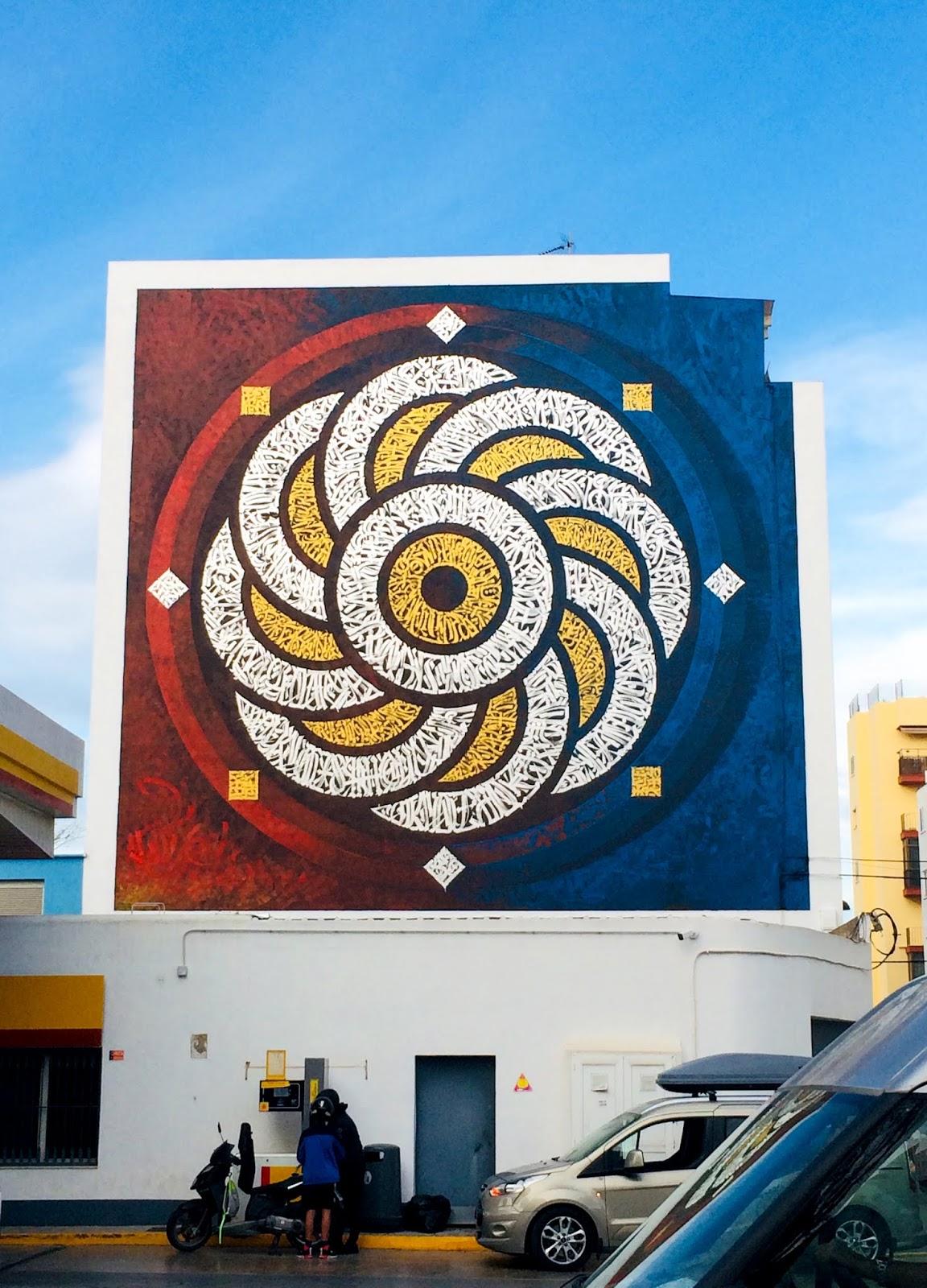 Intervenciñon mural en sitio específico del artista contemporáneo mexicano Said Dokins