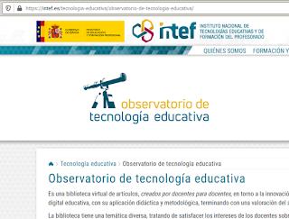 Observatorio de tecnología educativa