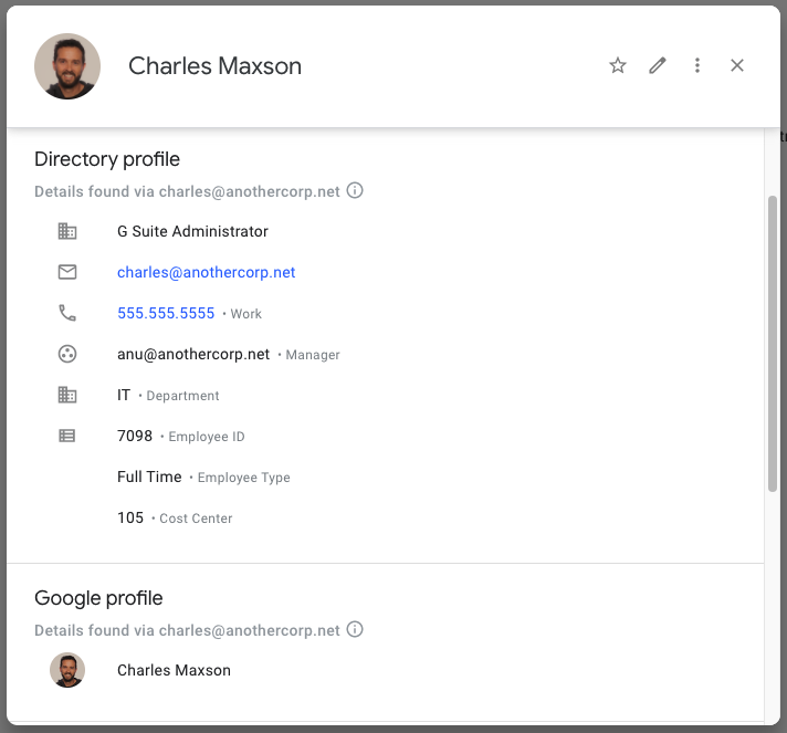 Google profile image