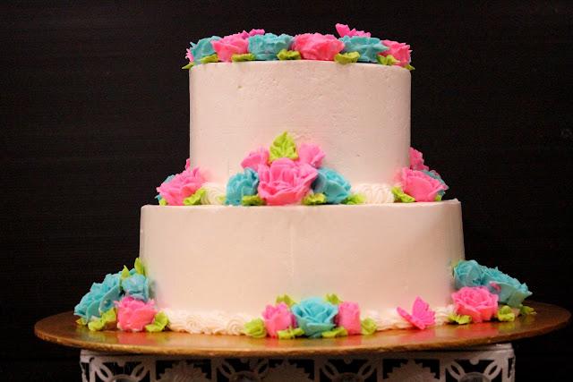 Cakes Cupcakes Brownies Wedding Stacked Cake Blue