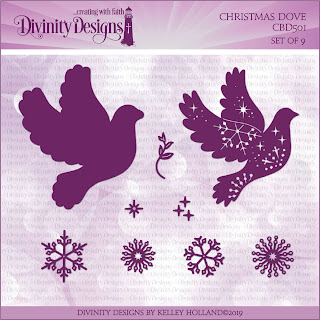 Divinity Designs LLC Custom Christmas Dove Dies