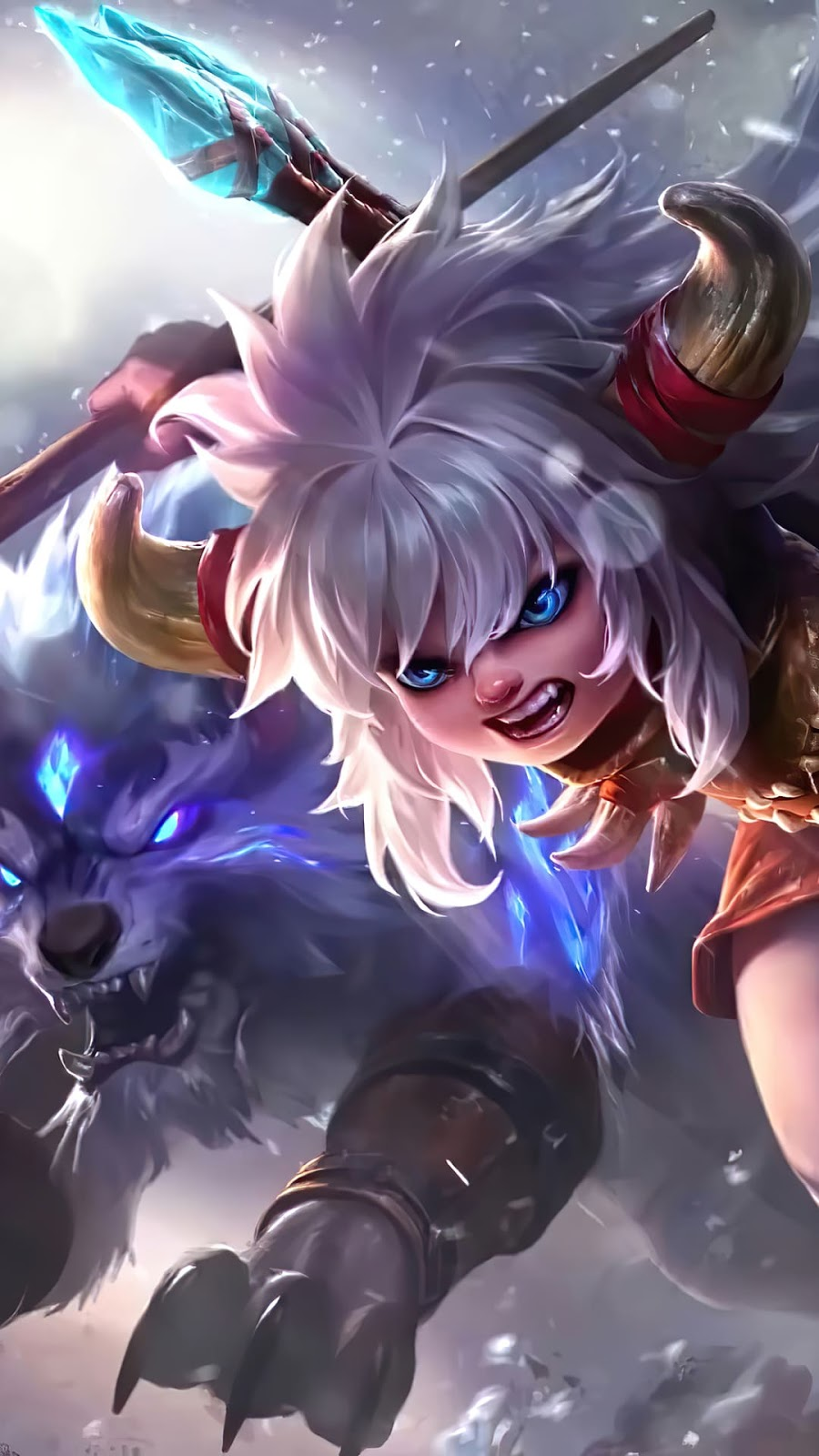 Wallpaper Popol and Kupa Icefield Companions Skin Mobile Legends HD for Android and iOS