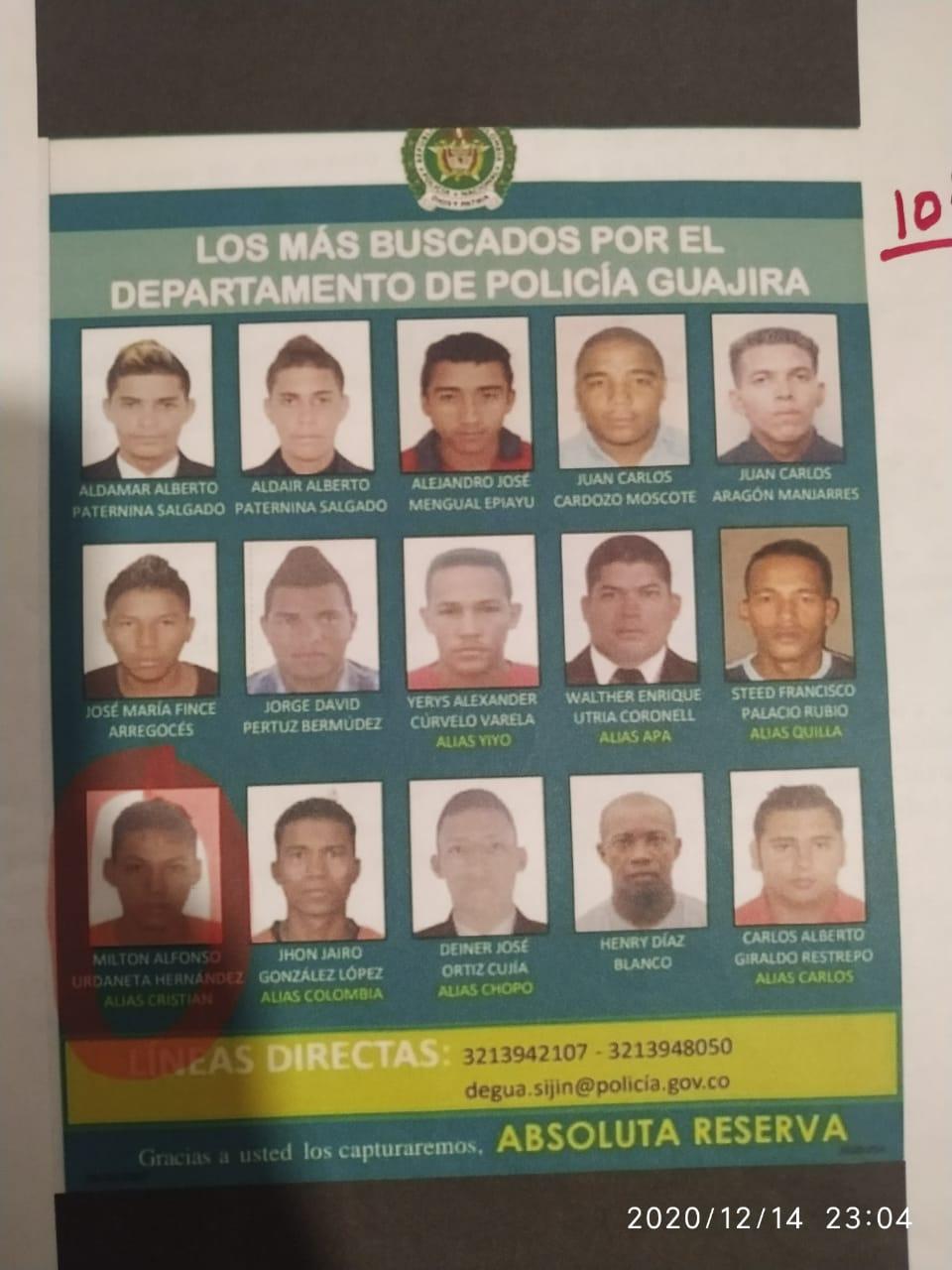 hoyennoticia.com, Estos son los más buscados en La Guajira