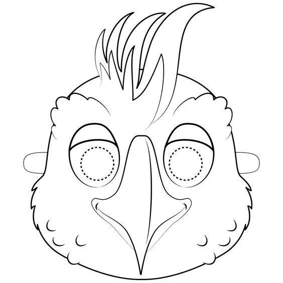 Tranh tô màu mặt nạ con gà trống