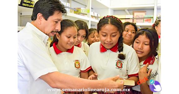 Incrementarán el acervo de libros de las bibliotecas de escuelas de Tulum