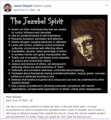Jezebel Spirit and a Mutant Strain of Theology in Politics