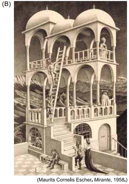 Mauríts Cornelis Escher. Mirante, 1958