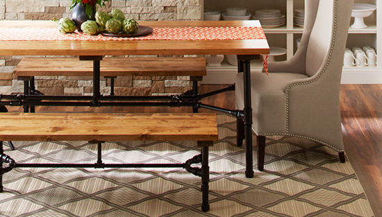 contoh set kursi dan meja unik dari pipa besi