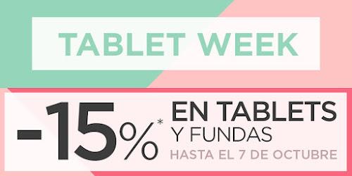 Mejores ofertas Tablet Week de El Corte Inglés