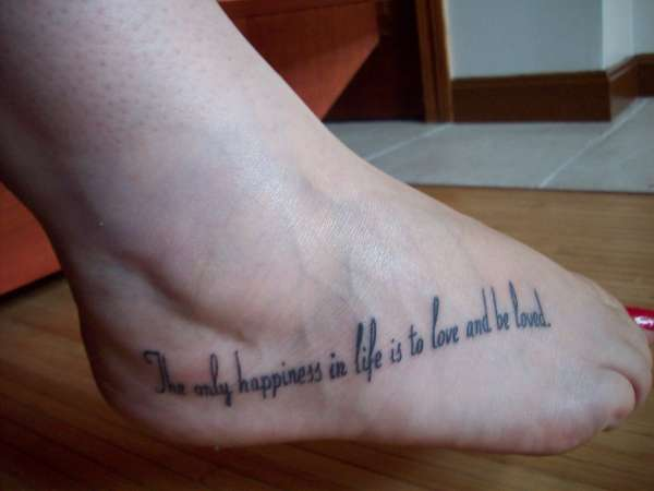 tattoo quotes for girls on foot - photo #5