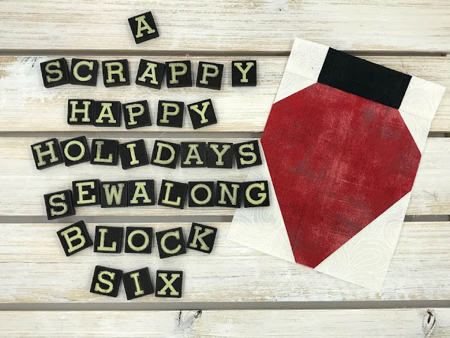A Scrappy Happy Holidays Mystery Sew Along Block 6 by Thistle Thicket Studio. www.thistlethicketstudio.com