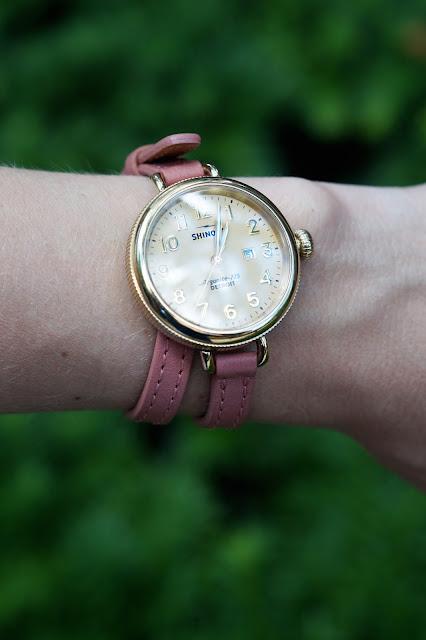 shinola double strap watch