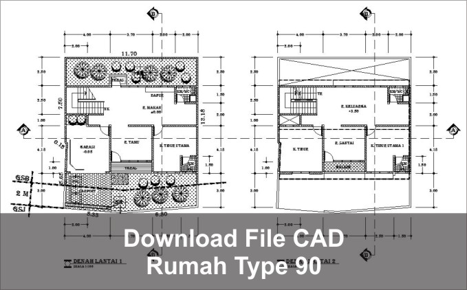 download rumah type 90 cad dwg