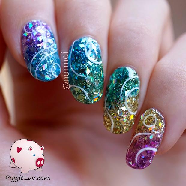 Piggieluv Glitter Jellies Nail Art With Opi Sheer Tints