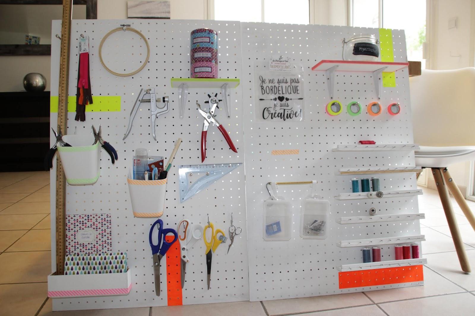 Aureliberty Peg Board Pour Latelier De Couture