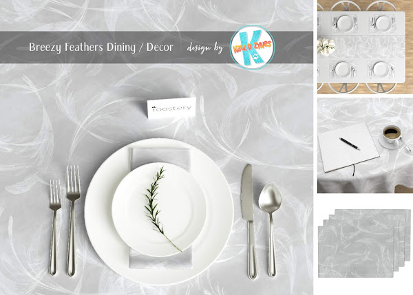 Breezy feathers elegant custom dining decor from katzdzynes