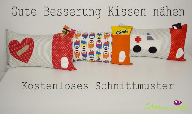ideenwiese gute besserung kissen kostenloses schnittmuster und anleitung. Black Bedroom Furniture Sets. Home Design Ideas