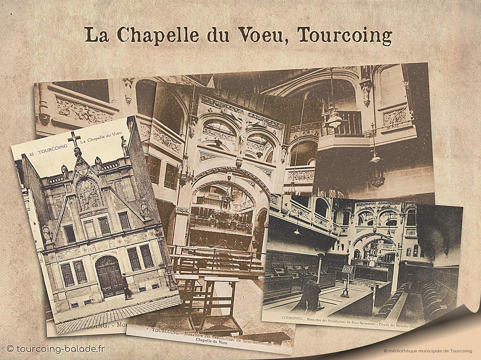 Cartes Postales Anciennes - Tourcoing, chapelle du Voeu