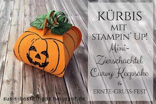 Äpfel und Kürbisse mit Produktpaket Ernte Gruss Fest und Mini Zierschachtel curvy keepsake box