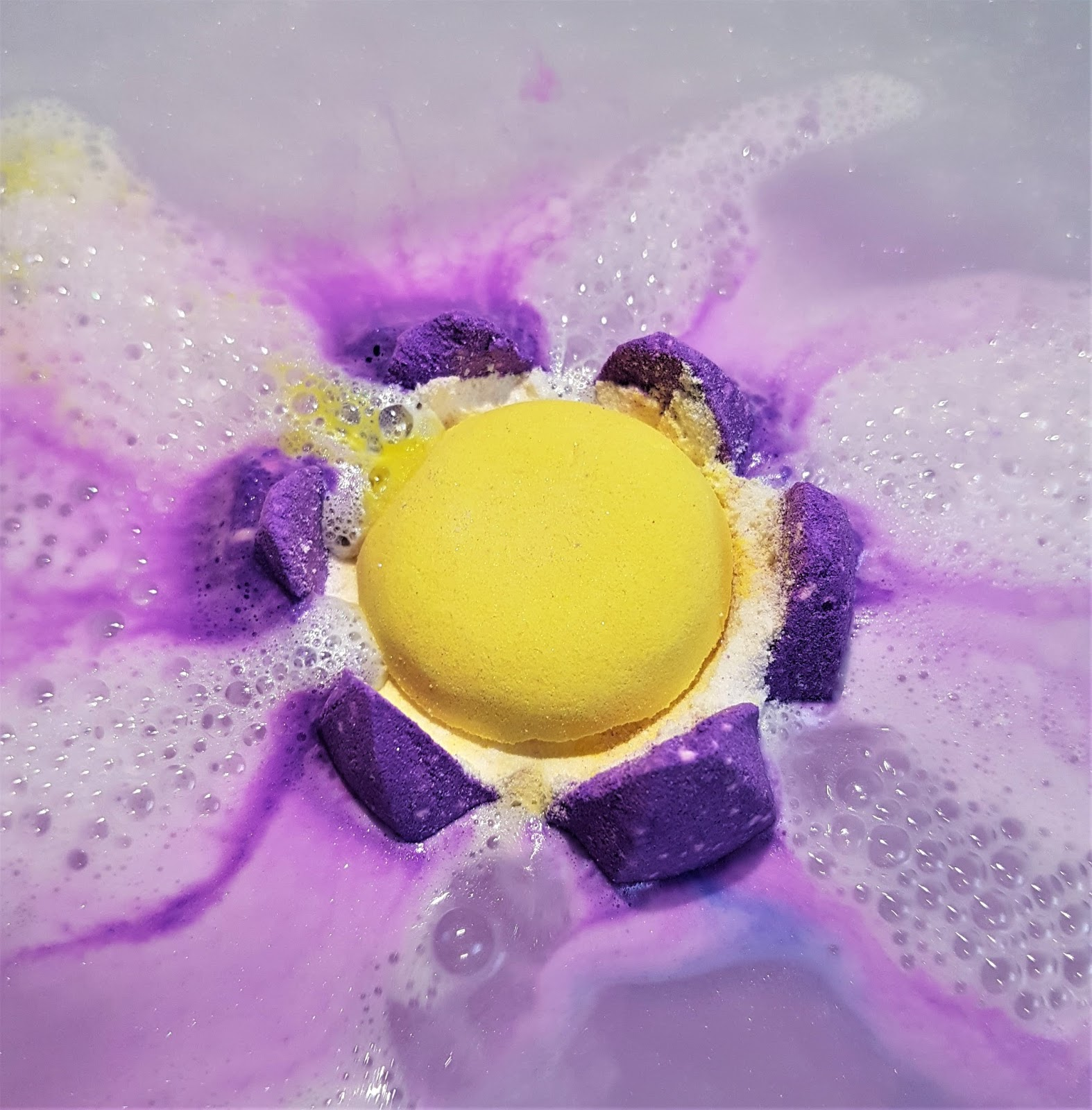 Sacred lotus bath bomb floating flower power the lush box im sure this product is inspired by the actual sacred lotus which is a real flower that is found in asia not to mention the fact that lotus flowers in izmirmasajfo Image collections