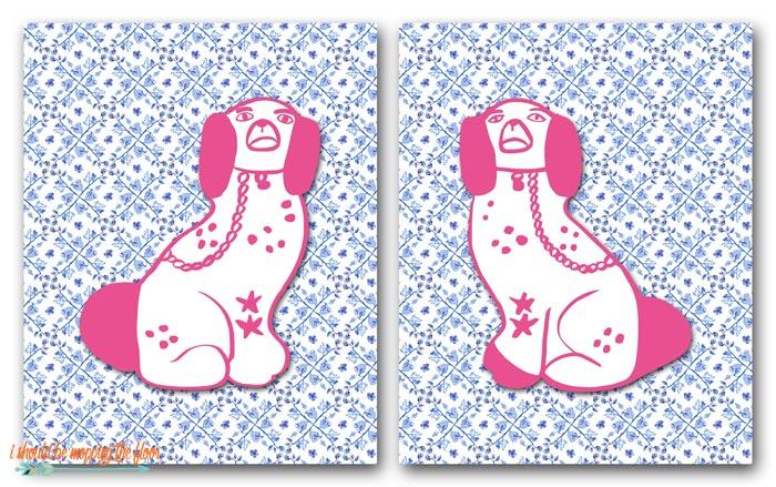 Free Printable Staffordshire Dogs