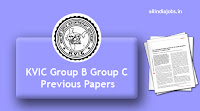 KVIC Group B Group C Previous Papers