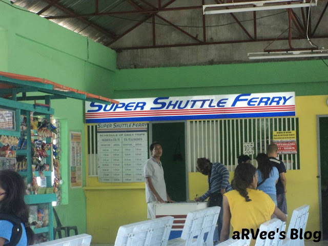 Super Shuttle Ferry going to and from Bantayan Island in Cebu Philippines at Hagnaya Port