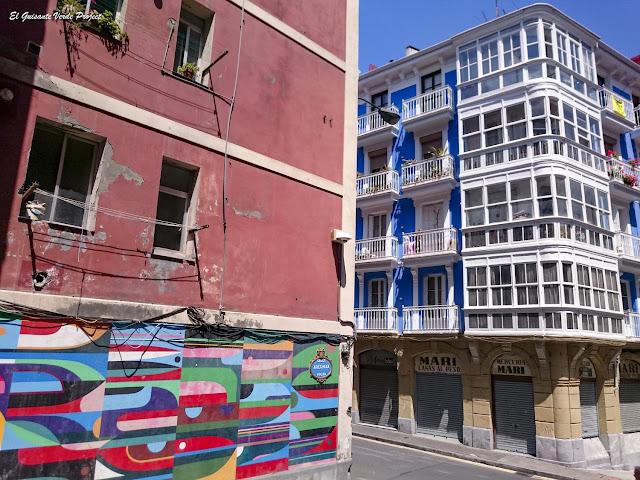 Mural en Arechaga 10, por Erb Mon - Bilbao, por El Guisante Verde Project