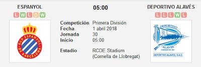 Espanyol vs Alavés en VIVO