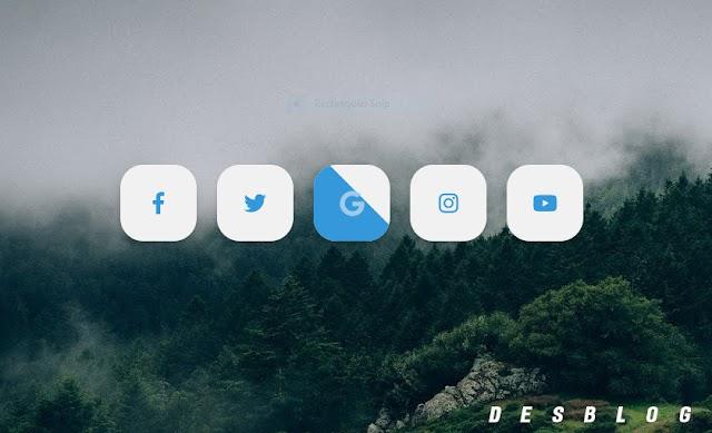 Chia Sẻ Social Icons Button Cho Blogspot