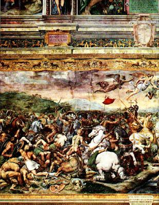 Stanze Vaticane battaglia Costantino contro Massenzio